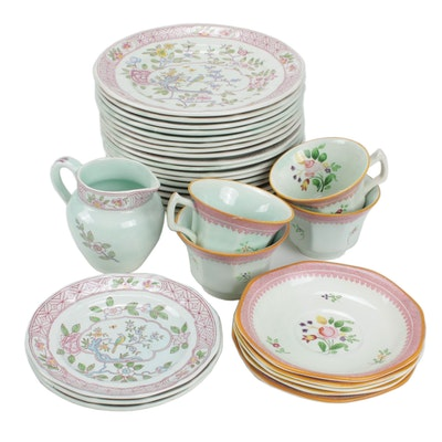 "Adams Calyx Ware ""Singapore Bird"" and ""Lowestoft"" Ironstone Dinnerware"
