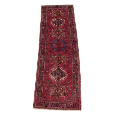 3'11 x 12'3 Hand-Knotted Persian Karaja Wool Long Rug