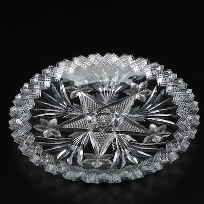 Libbey American Brilliant Period Cut Glass Center Star Plate