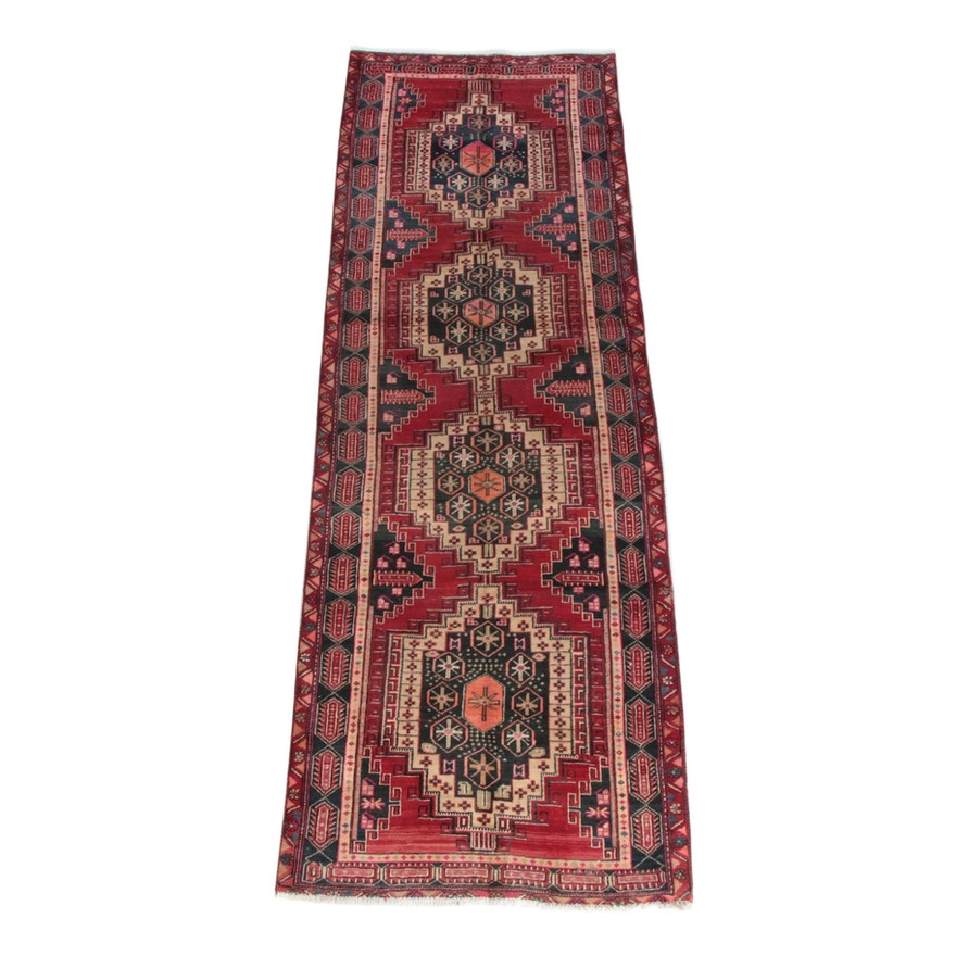 3'5 x 10'7 Hand-Knotted Persian Wool Long Rug