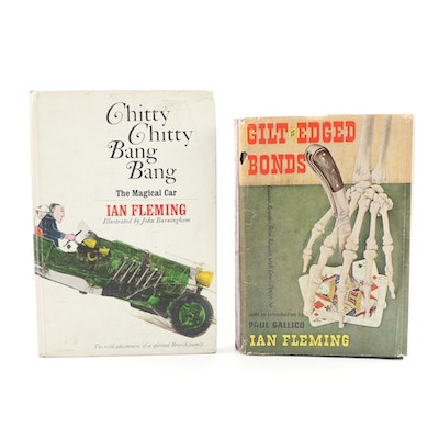 "First Edition ""Gilt-edged Bonds"" and ""Chitty Chitty Bang Bang"" by Ian Fleming"