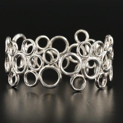 Sterling Silver Openwork Bangle Bracelet