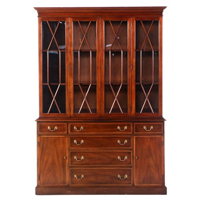 Henkel Harris Virginia Galleries Mahogany China Cabinet, Mid 20th Century