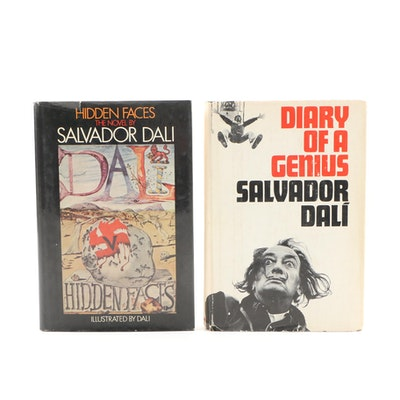 "1965 ""Diary of a Genius"" and 1974 ""Hidden Faces"" by Salvador Dalí"