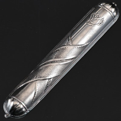 Sterling Silver Mezuzah Cover