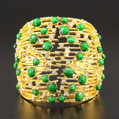Amrita Singh Glass Hinged Cuff Bracelet