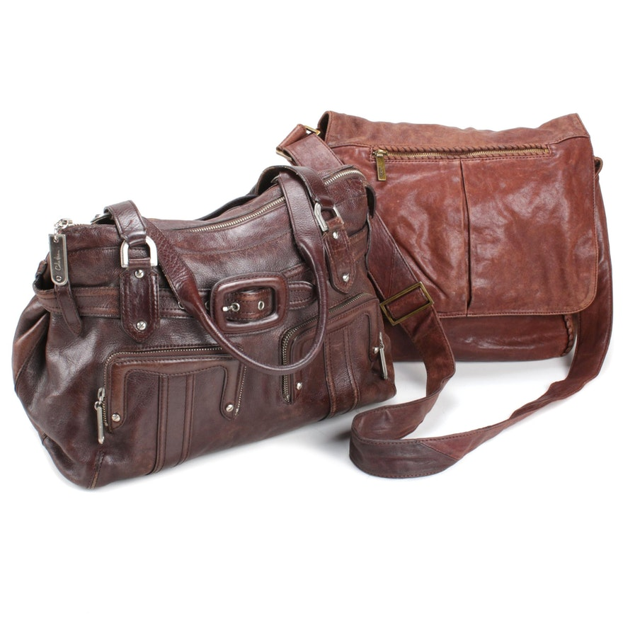 Cole Haan and Hobo International Naturally Distressed Leather Satchels