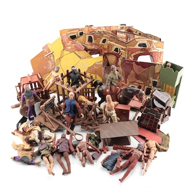"""Mego Toys """"Planet of the Apes"""" Fortress Playset with Action Figures, 1967"""