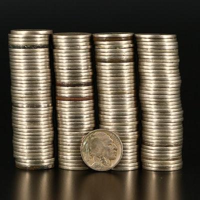 158 Buffalo Nickels
