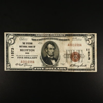 Series of 1929 $5 Brown Seal National Currency Note