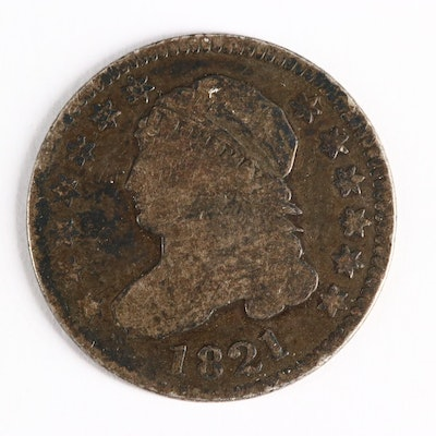1821 Capped Bust Silver Dime