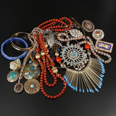 Assorted Jewelry Including Vintage Pieces and Micro Mosaics