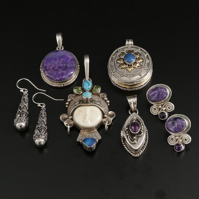 Assorted Sterling Silver Jewelry including Sajen