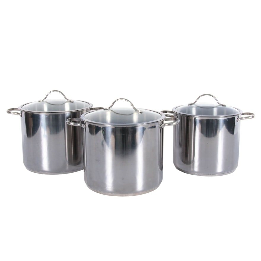 Grand Gourmet Stainless Steel Stock Pots