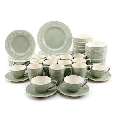"""Jasper Conran for Wedgwood """"Impressions Sage"""" Porcelain Dinnerware, Set for Ten"""