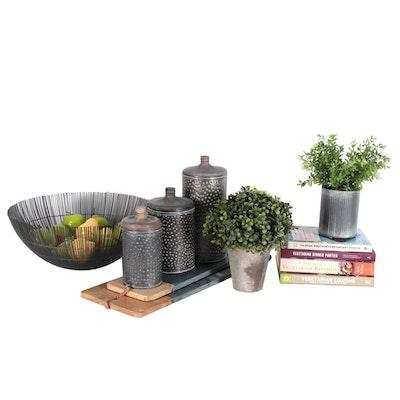 Kitchen Canisters, Cutting Boards, Cookbooks and Decor