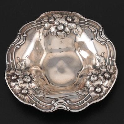 Gorham Repoussé Sterling Silver Individual Bonbon Bowl, 1903