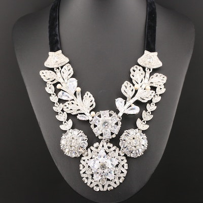 Carolee Glass and Imitation Pearl Necklace