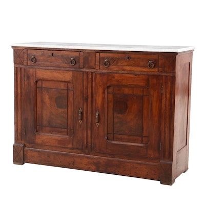 Victorian Eastlake Walnut Sideboard, Late 19th Century