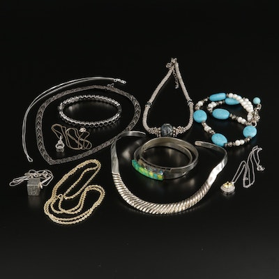 Sterling Silver Necklaces and Bracelets Featuring Gemstone and Glass Accents