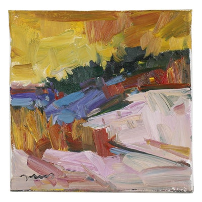 "Jose Trujillo Oil Painting ""Early Light"", 2019"