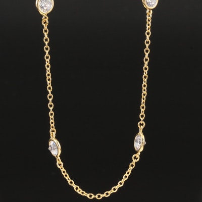 Kenneth Jay Lane Cubic Zirconia Station Necklace