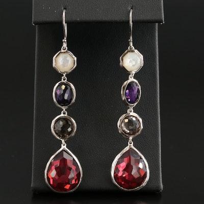 "Ippolita ""Wonderland"" Sterling Quartz and Mother of Pearl Dangle Earrings"