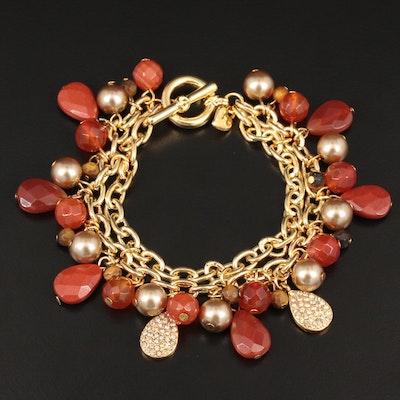Carolee Assorted Gemstone Fringe Bracelet