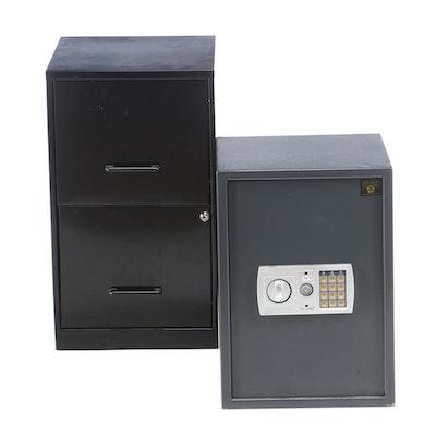 """Paragon """"Quarter Master 7775"""" Digital Safe Plus Two-Drawer File Cabinet"""