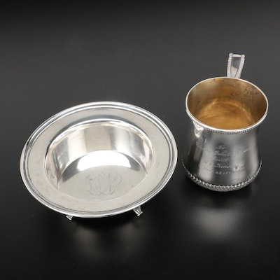 Towle Sterling Silver Presentation Cup and Footed Bowl