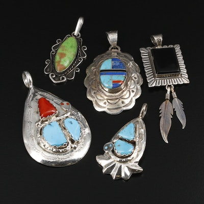 Sterling Silver Pendants Featuring Effie Calavaza Zuni and Southwestern