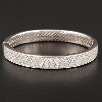 18K White Gold 4.01 CTW Diamond Bracelet