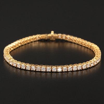 18K Yellow Gold 3.57 CTW Diamond Line Bracelet