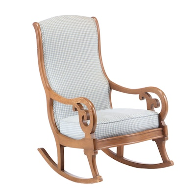 "Classical Style Mahogany ""Lincoln"" Rocking Chair, Mid 20th Century"