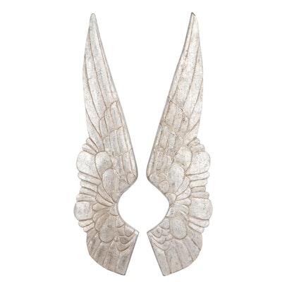 Restoration Hardware Carved Silver-Leaf Wings