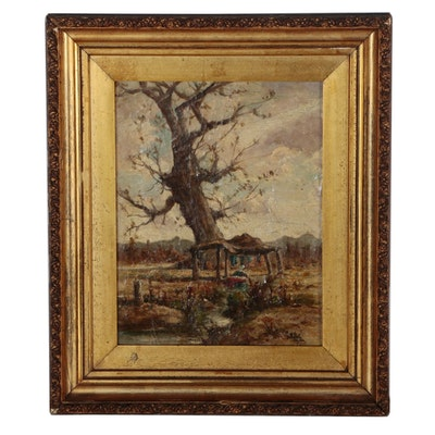 Henry Hammond Ahl Landscape Oil Painting