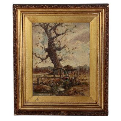 Henry Hammond Ahl Landscape Oil Painting