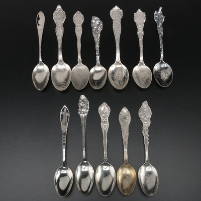 American Sterling Silver Souvenir Spoons