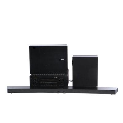 Marantz AV Reciever With Samsung Bluetooth Home Audio System