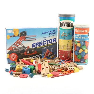 Educational and Building Toys Featuring Tinkertoy and Playskool