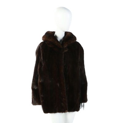 Mink Fur Jacket with Shawl Collar from A.S. Webster & Co., Vintage