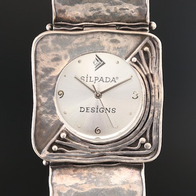 Silpada Designs Sterling Silver Quartz Wristwatch
