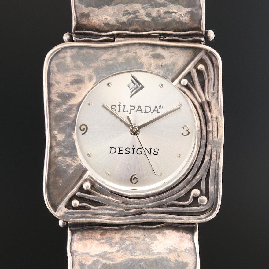 Silpada Designs Sterling Silver Quartz Wristwatch