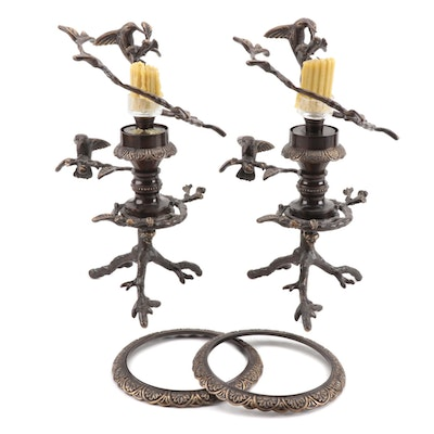 """Wildwood Accents """"Hummingbird"""" Candle Holders"""