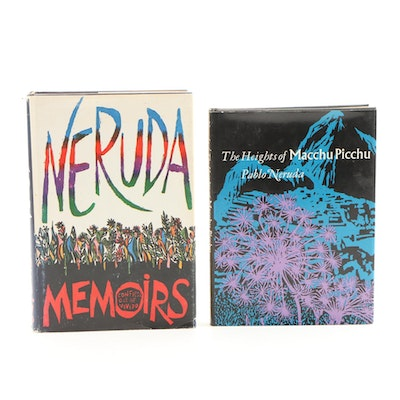 "First American Edition Pablo Neruda Books Including ""Heights of Macchu Picchu"""