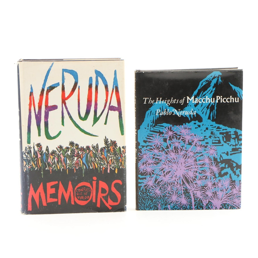 """First American Edition Pablo Neruda Books Including """"Heights of Macchu Picchu"""""""