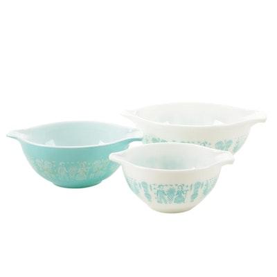 """Pyrex Cinderella """"Butterprint"""" Nesting Batter Bowls , 1957-1968"""