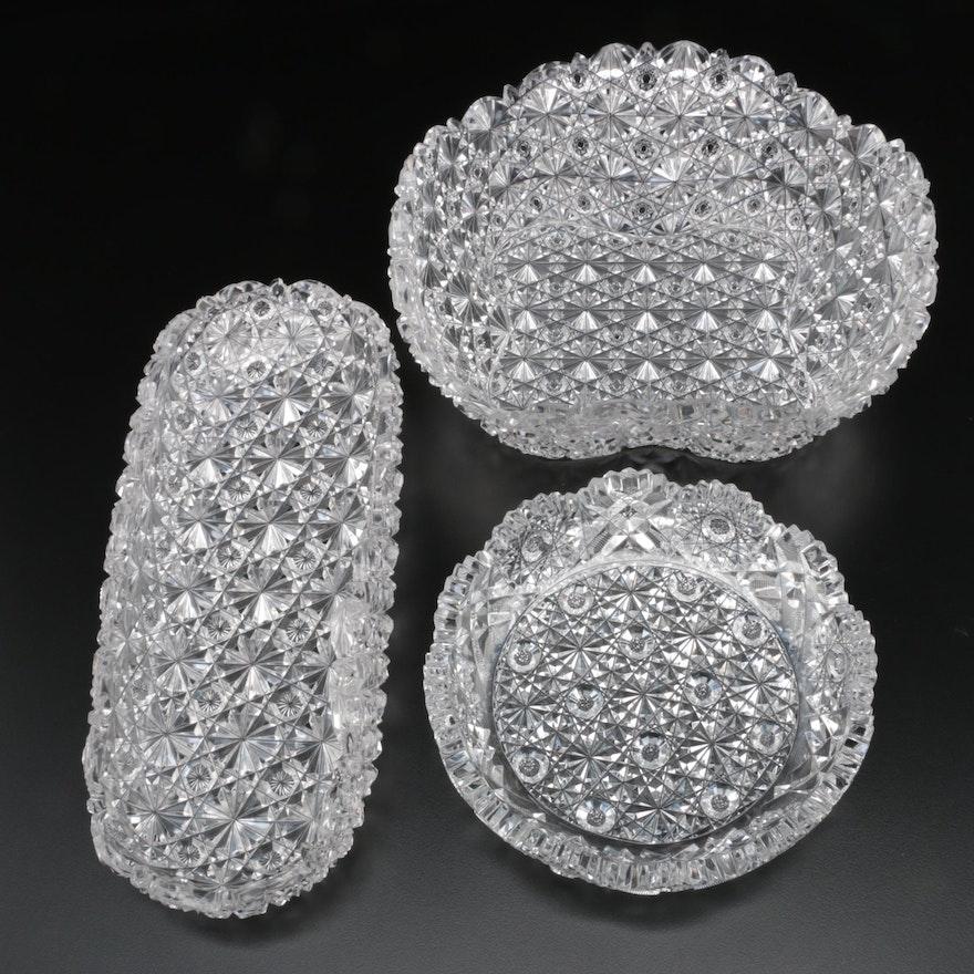 American Brilliant Cut Glass Serveware