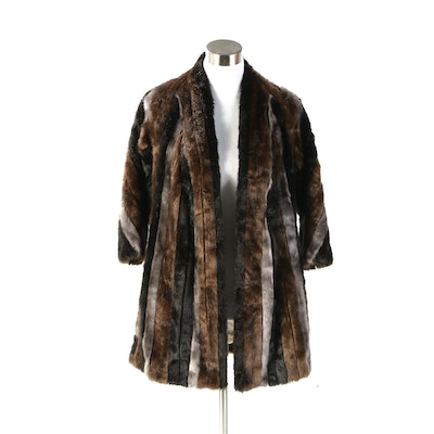 "Byron Lars Beauty Mark ""Marlene Dietrich"" Mink Mix Faux Fur Jacket"