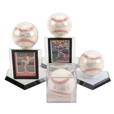 Dibble, Sanders, O'Neill and Rijo Signed Baseballs   COA